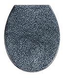 Wenko 18902100 Premium WC-Sitz Ottana Granit - Absenkautomatik, rostfreie Fix-Clip Hygiene...