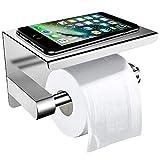 Toilettenpapierhalter Ohne Bohren mit Ablage, ZOTO 3M-Kleber Selbstklebend Klorollenhalter...