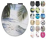 Calmwaters® WC Sitz Strand Motiv Südsee mit doppelter Absenkautomatik, Fast-Fix-Befestigung aus...
