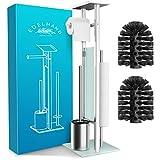 EDELHAND© Toilettenpapierhalter stehend als WC Garnitur [mit GRATIS Klobürste] - Edelstahl...