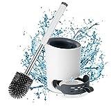Braoses [Verbessertes Design] Toilettenbürste Silikon mit Halter Wandmontage & Stehen klobürste...