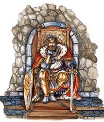 Thron mit Klo in der Antike